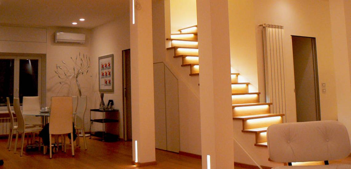d'une montée d'escalier